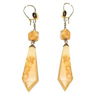 Antique Victorian Marble Earrings Drops