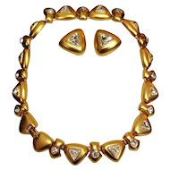 Bold 1980's Alfred Sung Set Necklace Earrings