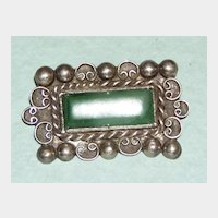 Vintage Sterling Mexican Brooch