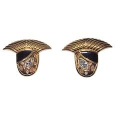 Rare Scarce Angela Kramer Signed Clip Earrings
