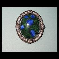 Victorian Art Glass Paste Brooch