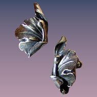 Artist Silver Vintage Screwback Earrings Sterling