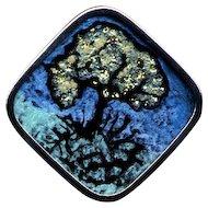 Artist Pin Tree Under Glass