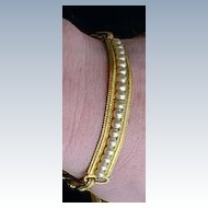 Choker Bracelet Set Vintage Collar with Faux Pearls