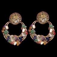 Large Vintage M. Baer Earrings Clips Book