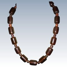 Vintage Genuine Baltic Amber Large Beads Necklace