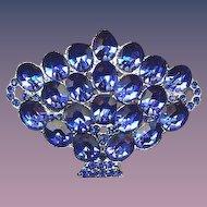 Vintage Basket Pin Bright Blue 1930's