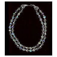 Bridal Choker Vintage Crystal Beads