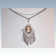 Beautiful Sterling Antique Cameo Necklace