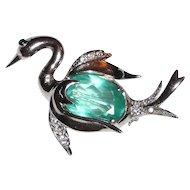 Sweet Sterling Bird Swan Pin