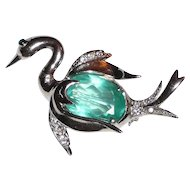 Sweet Sterling Bird Swan Pin