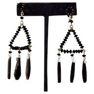 It's All About Black Vintage Long Chandelier Earrings