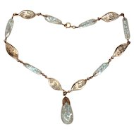 Artglass Choker Pale Blue Glass Speckled