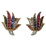Boucher Rhinestone Earrings Brilliant!