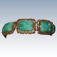 Vintage Green Peking Glass Bracelet