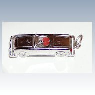 Vintage Large Sterling Car Charm