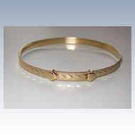 Vintage Child's Bracelet Gold Fill Hearts
