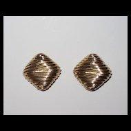 Large Vintage Ciner Clip Earrings