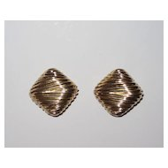 Large Vintage Ciner Clip Earrings