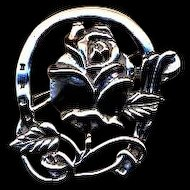 For The Roses Vintage Sterling Pin