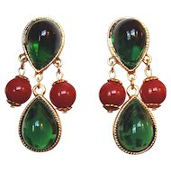 Elegant Classy Wonderful Green Earrings