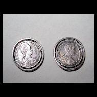 Maria Theresa Coin Earrings Clips