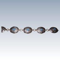 Beautiful Sterling Concho Bracelet