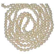 Long 60 Inch Angelskin Angle Skin Coral Beads