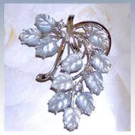 Coro Fruit Salad Brooch Pale Blue