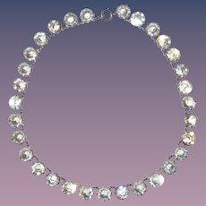 Vintage Sterling Riviere Crystal Choker and Bracelet