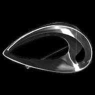 Modernist Sterling Curves Brooch