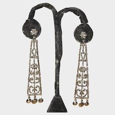 Rare Cut Steel Antique Earrings