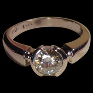 14K Diamond Solitaire Ring 3/4 Carat Bold