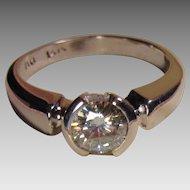 14K Diamond Solitaire Ring 3/4 Carat Bold