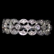 Gorgeous Estate Platinum Diamond Band Ring Size 7