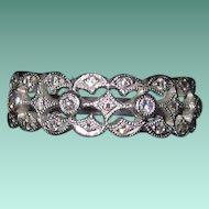 Gorgeous Estate Platinum Diamond Band Ring Size 7