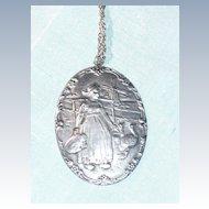 Large Sterling Dutch Girl pendant