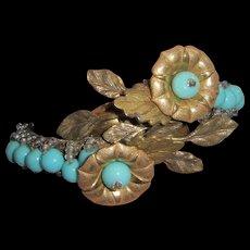 Early Miriam Haskell Frank Hess Bracelet Restored