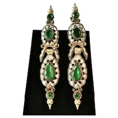 Exquisite 18th Century Iberian Peninsula Earrings