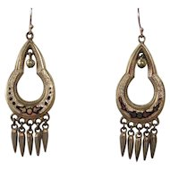 Victorian Taille d'Epergne Gold Filled Earrings