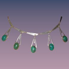 Israel Sterling Beautiful Eilat Pendants Necklace