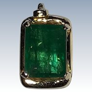 Estate Emerald 14K Gold Pendant