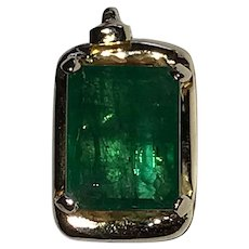 Estate Emerald 14K Gold Pendant