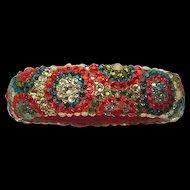 Fancy Rhinestone Handmade Bangle Bracelet