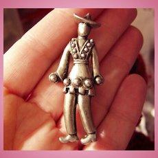 Wonderful Vintage Figural Pin of a Man