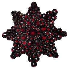 Star Shaped Victorian Garnet Brooch