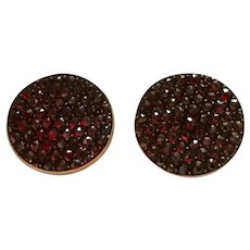 Victorian Garnet Cuff Buttons Gorgeous!