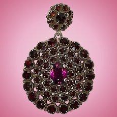 Vintage Bohemian Garnet Pendant