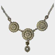 Georgian Antique Natural Split Pearl Necklace