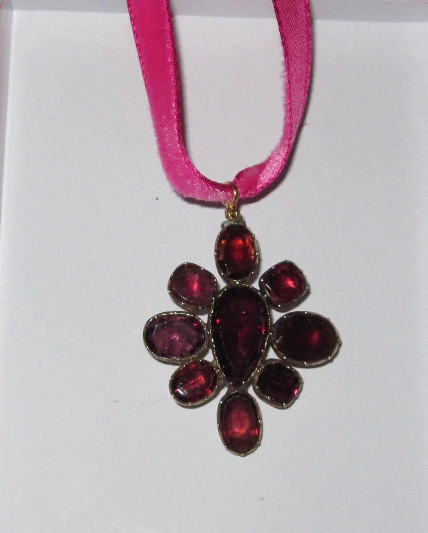 Georgian garnet pendant brooch large alison phalan antiques ruby georgian garnet pendant brooch large click to expand aloadofball Images